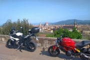 Seaside and Volterra Motorcycle Tour - Florence View Piazzale Michelangelo